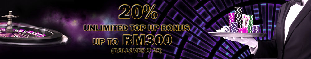20% Unlimited Top Up Bonus
